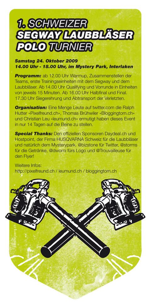 1. Schweizer Segway Laubbläser Polo Turnier