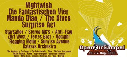 OpenAir Gampel 2008: Programm